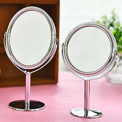 Hot Women Beauty Make up Cosmetic Double Side Normal + Magnifying Stand Mirror T