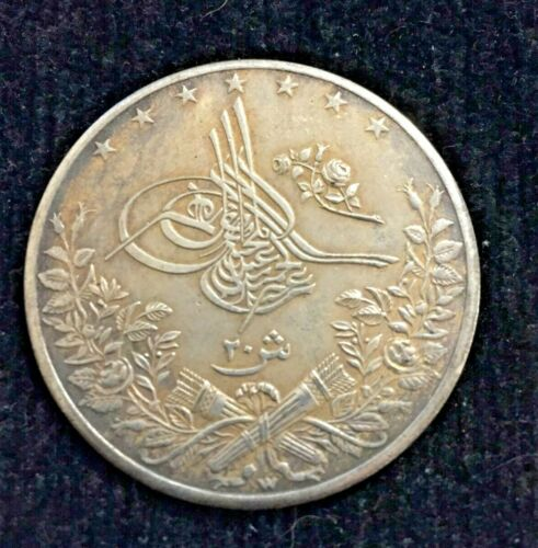 ottoman empire  coin 20 piasters  REAL VARE OLD 1293
