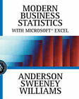 Modern Business Statistics with Microsoft Excel by Thomas Williams, Dennis Sweeney, David Anderson (Hardback, 2001)