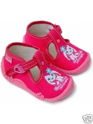 BABY GIRLS CANVAS SHOES - SANDALS - SLIPPERS UK size 3-7 /EU 20-24 - Breathable!