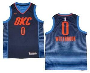 low priced 9cca9 c2943 Details about Youth Nike Russell Westbrook #0 OKC Thunder Navy Swingman  Jersey XL (18/20)