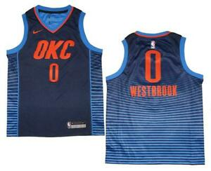 low priced 4f0b9 b69e6 Details about Youth Nike Russell Westbrook #0 OKC Thunder Navy Swingman  Jersey XL (18/20)