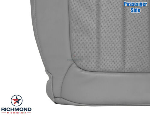 2011 GMC Acadia Denali-PASSENGER Side Bottom PERFORATED Leather Seat Cover Gray