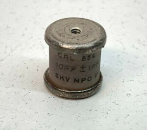 10 Vintage Centralab CRL CPR1000K 1000pF 500VDC 10/% Axial Polystyrene Capacitors