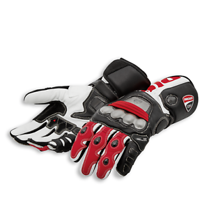 DUCATI Dainese Corse C5 Racing Handschuhe Leder Gloves schwarz weiß NEU 2021