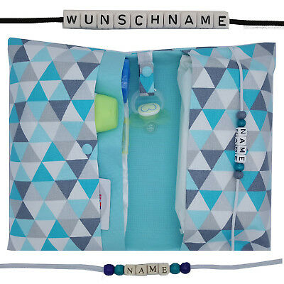 XXL Windeltasche to go mit Name Wickeltasche Geburt Mädchen Junge Taufe handmade