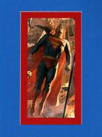 SUPERMAN PRINT PROFESSIONALLY MATTED Alex Ross art