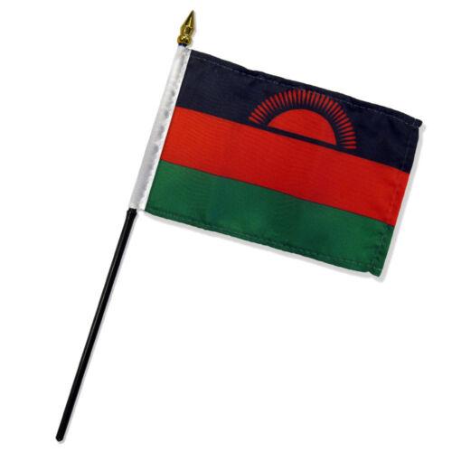 "Malawi 4/""x6/"" Flag Desk Table Stick"