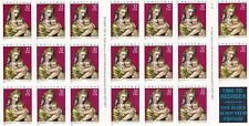 U.S. BOOKLET PANE OF 20 SCOTT#3244a 1998 32ct CHRISTMAS MADONNA P#11111 AT FACE
