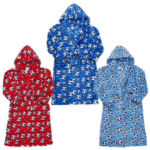 4Kidz Boys Supersoft Fleece Football Dressing Gown