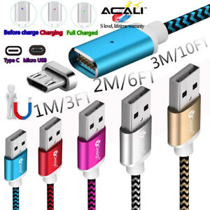 1-2-3M-Magnetic-Charger-Type-C-Micro-USB-Cable-For-Samsung-Galaxy-S7-S8-S9-Plus