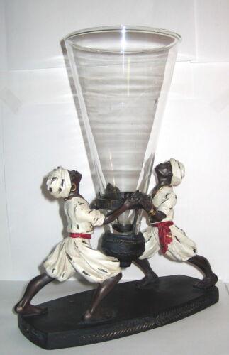 Kolonialstil Mohren Figur Vase Blumenvase Tischvase Konfektschale 26x20x9cm