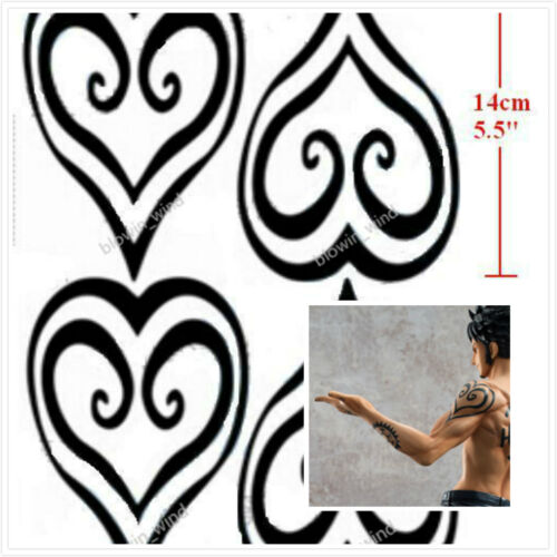 Cosplay costume temporary tattoo sticker one piece for Trafalgar law tattoos