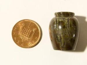 19thc Miniature Serpentine Sculpté Vase Ou Urne Maison De Poupées Grand Tour *-afficher Le Titre D'origine