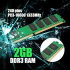 MECO 2GB Memory RAM DDR3 1333MHz PC3-10600 DIMM 240pins For AMD/INTEL Desktop PC