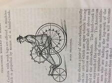 m2u ephemera 1880s article velocipede by hand cycling