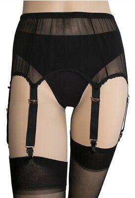 Intimates & Sleep Charitable Ladies 6 Strap Metal Clips Suspender Belt Black M 8-10/12 L 12-14 & Xl 16-18/20