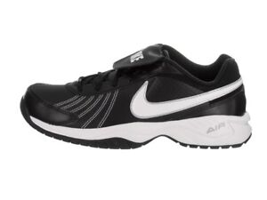 New Nike Air Diamond Trainer Turf Baseball Shoes Size 9 Black White ... 97034d784