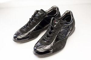 Leather 7 Women's 7 Shoes Sneakers 5 Eu Patent Ecco 38 Black dXwfq0xnT