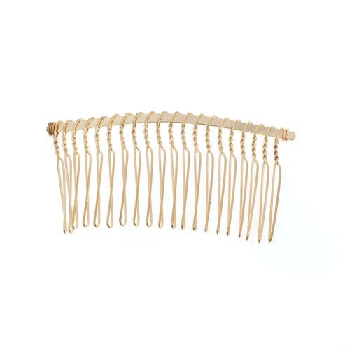 5 Gold Plain Hair Combs Gold Effect 78 x 38cm Weddings Prom Hair J75799XC