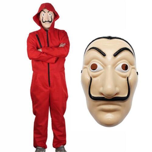 Unisex Cosplay Halloween Costume For Salvador Dali La Casa De Papel Money H Top