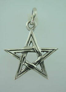 Sterling silver pentagram pendant wicca goth spiritual five star image is loading sterling silver pentagram pendant wicca goth spiritual five aloadofball Choice Image