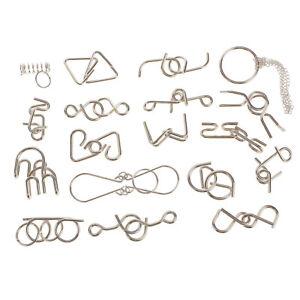 18pcs-Rompicapi-Aprire-Metallo-Anelli-Di-Puzzle-Separata-Giocattoli-Educativi