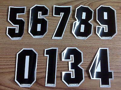 "NOS Voxom BMX Bike Bicycle MotoCross Number Plate Numbers Number 6 Black 4/"""