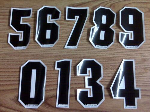 "NOS Voxom BMX Bike Bicycle MotoCross Number Plate Numbers Number 5 Black 4/"""