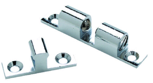 """Boat Marine Cabinet Door Chrome Plated Brass Friction Ball Catch 1-15//16/"""" x 3//8/"""""""