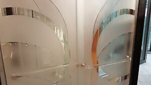 Shower Door Parts Acrylic Cast Gold Accents Clear Look