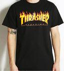 Unisex Tops Thrasher Print Skateboard  Tee Fashion Short Sleeve Personal T-Shirt