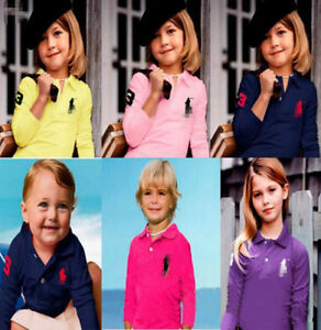 Children-are-boys-and-girls-polo-shirts-net-long-sleeve-T-shirt-2-13-Y-11-colors