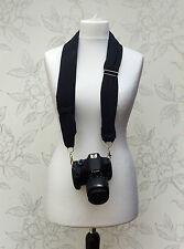Sciarpa Nero Cinturino della fotocamera, cinturino regolabile fotocamera, cinghia fotocamera DLSR Sciarpa
