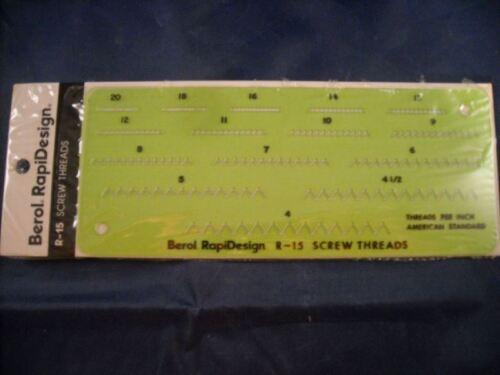 Berol Template Screw Threads R-15