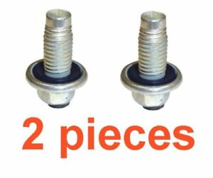 (2) 12mm 1.75 Magnetic 15mm Hex Drain Plugs W/ Inset Gaskets RPL GM 11562588