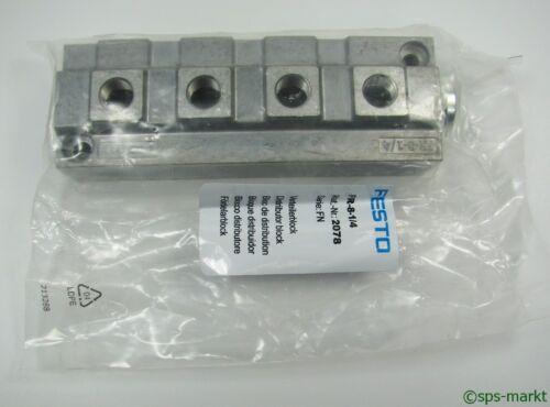 FS Festo fr-8-1//4 ; 2078 bloque múltiple