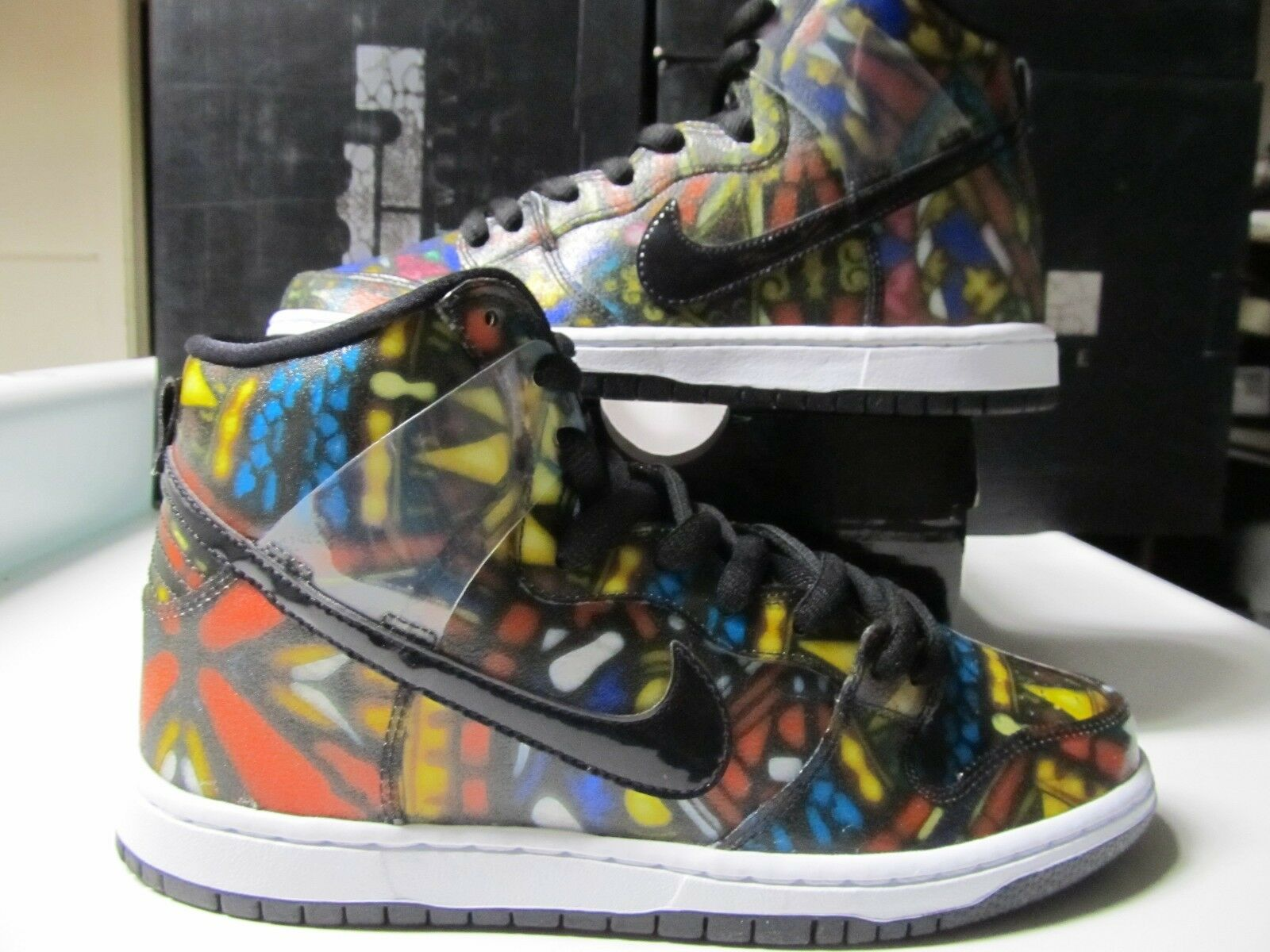 Nike Dunk High Premium SB CONCEPTS Rd Holy Blk Wt STAINED GLASS Holy Rd Grail 313171 606 0df036