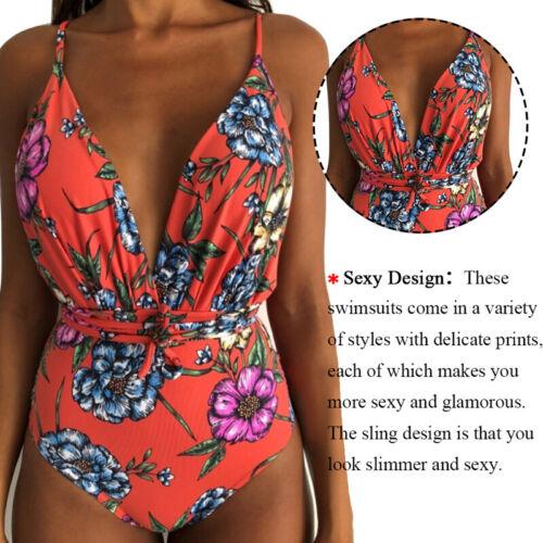 Damen Bikini Monokini Push Up Badeanzug bikinislip Strand Schwimmanzug Bademode