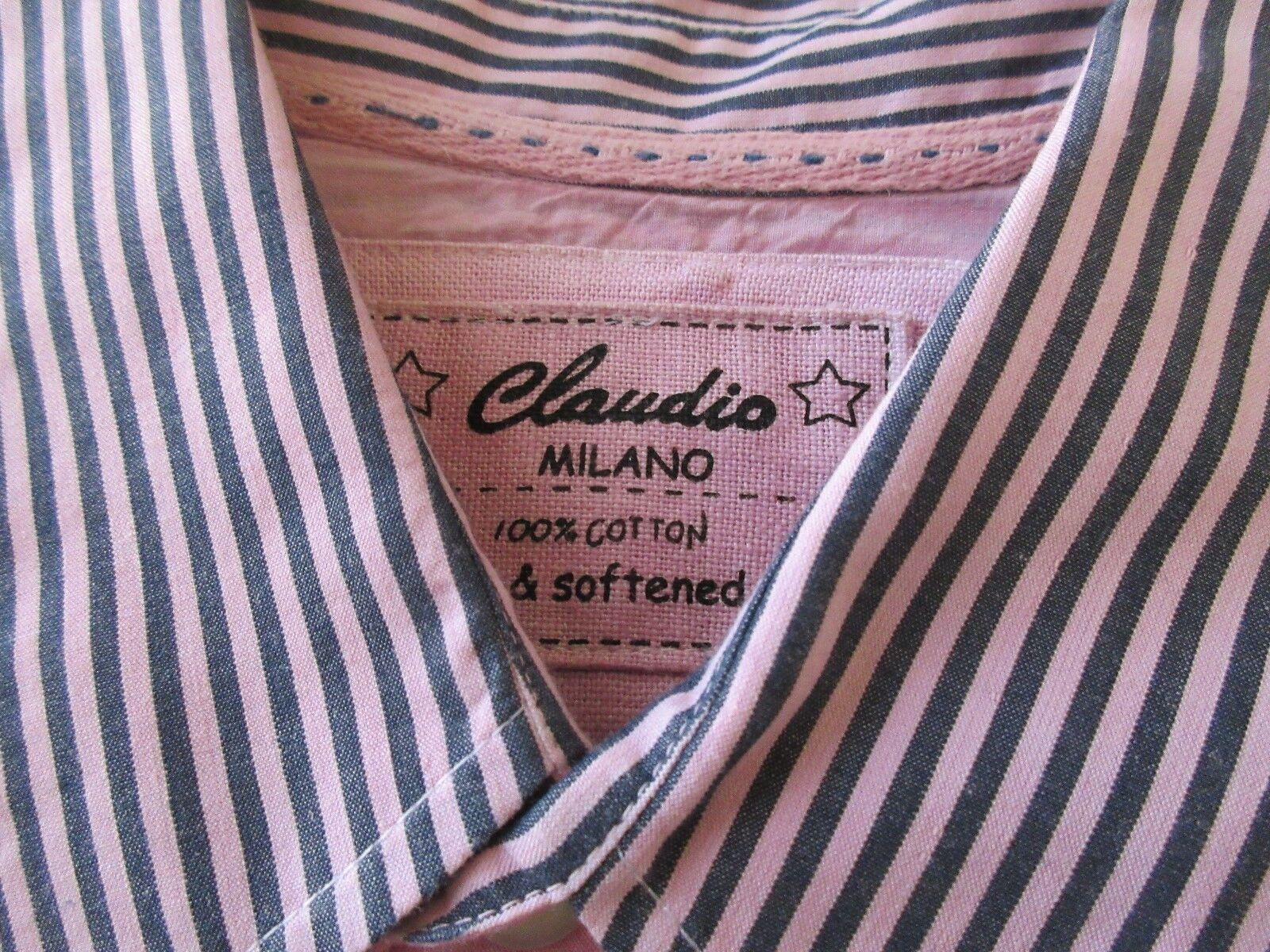 Claudio , Milano , Men's Shirt , Long , XXL , 100% Cott