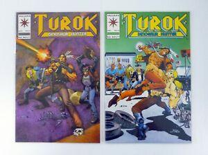 TUROK-DINOSAUR-HUNTER-5-6-Valiant-Comics-Lot-of-2-NM-NM-1993