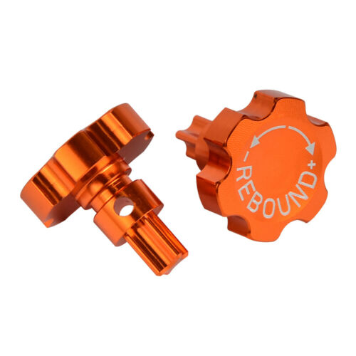 Pair CNC Front Fork Knob Bolts For KTM EXC 125 200 250 300 380 400 450 520 525