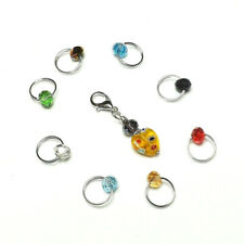 SET OF 16  #218 STITCH MARKERS HANDMADE BEADED KNITTING ACCESSORIES