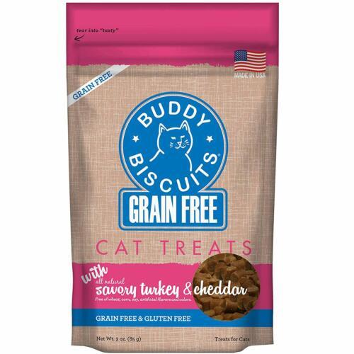 Soft  Chewy Savory Turkey /& Cheddar 3 Oz. Buddy Biscuits Cat Treats