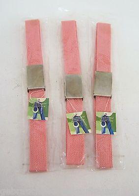 Cintura Cinturone Cintura Per Ragazzi O Ragazze 105 Cm Arancione 3er Set-mostra Il Titolo Originale