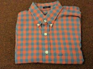 ABERCROMBIE-amp-FITCH-LONG-SLEEVE-RED-BROWN-CHECK-SHIRT-SIZE-S-38-039-039-CHEST