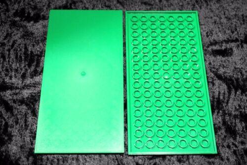 GREEN 8 x 16 LEGO TILE ~ Smooth Flat Finishing Tile Plate w// Bottom Tubes  NEW