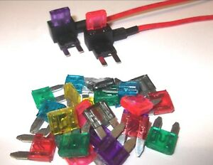 van FREE FIRST CLASS UK POSTAGE! /& truck 20x Red 10A 10 Amp Standard ATO Blade fuse for 12V // 24V car