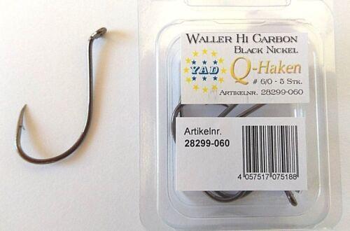 Hi carbon wallerhaken Taille 6//0 öhrhaken 5 Pièce HAMEÇON Catfish hook fishing