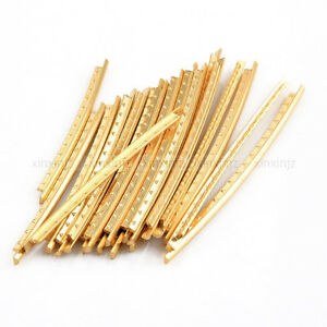 set of 20pcs copper fret wire fretwire gold for acoustic guitar ebay. Black Bedroom Furniture Sets. Home Design Ideas